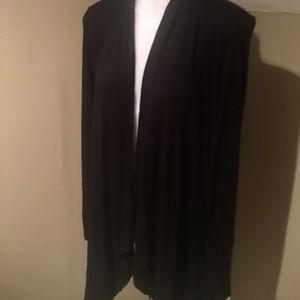 I.N.C Women Blk Drape Front Cardigan Tunic/Top-S